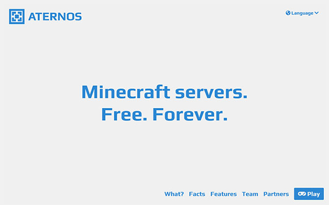 Aternos Homepage
