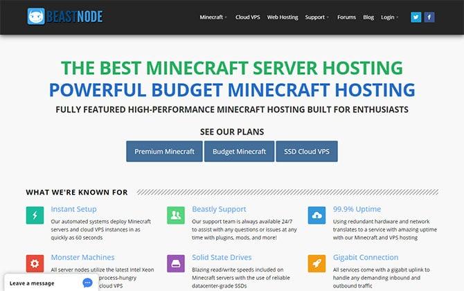 BeastNode Homepage