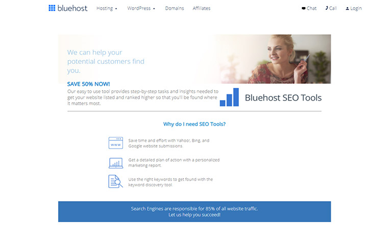 Bluehost SEO Tools
