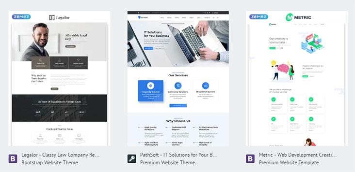 Bluehost's WordPress Templates