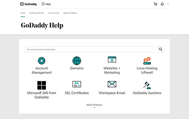GoDaddy Help Center