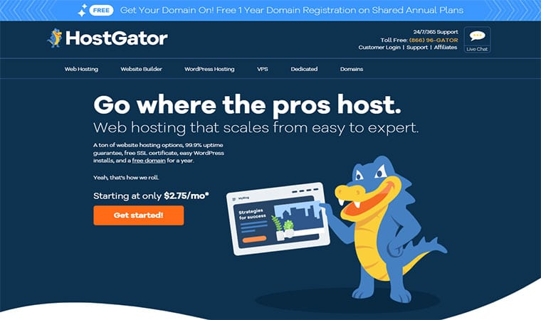 HostGator Homepage