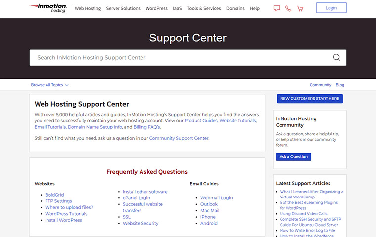 InMotion Hosting Support Center