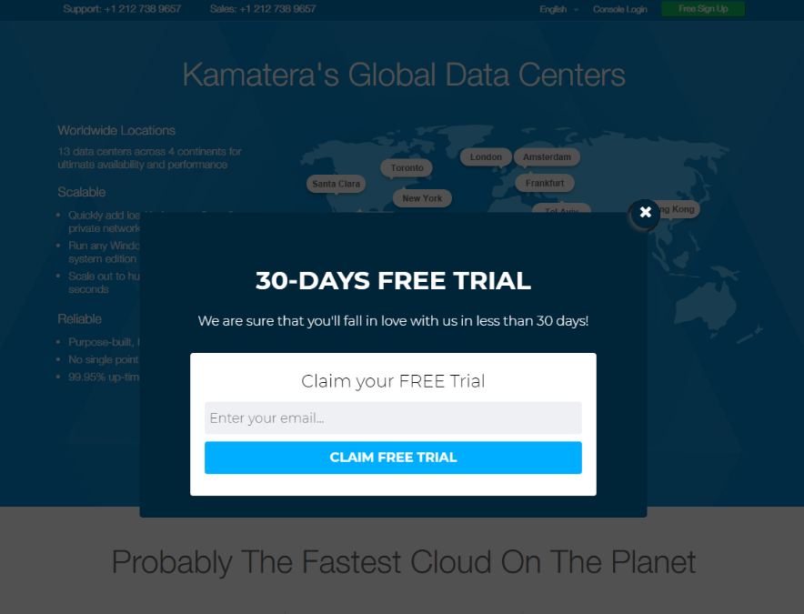 Kamatera 30 Days Free Trial