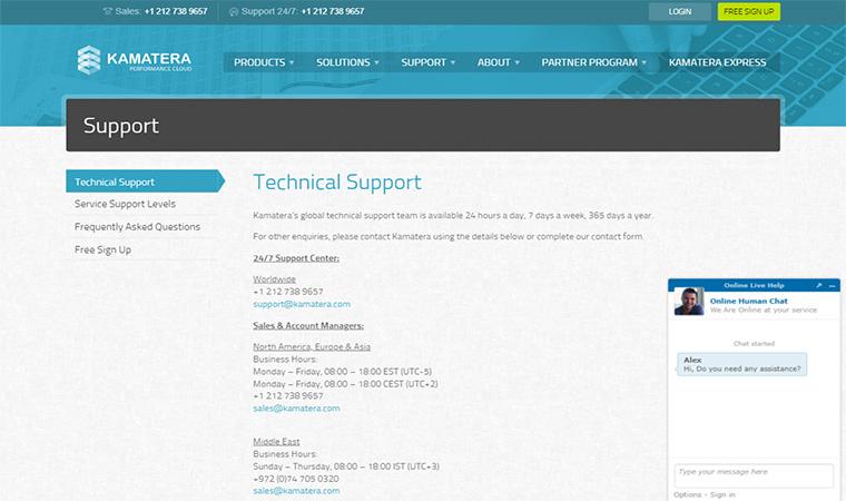 Kamatera Customer Support