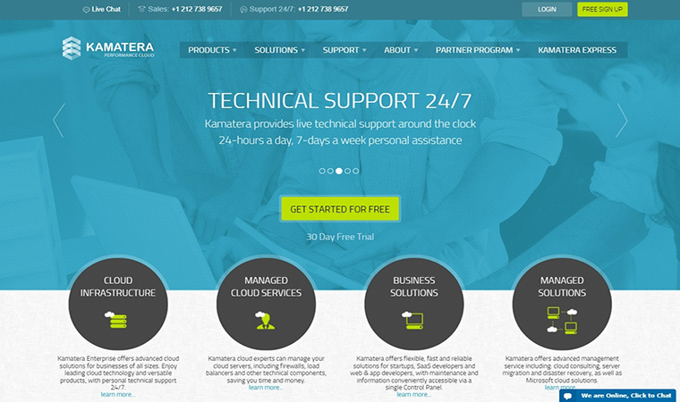 Kamatera Homepage