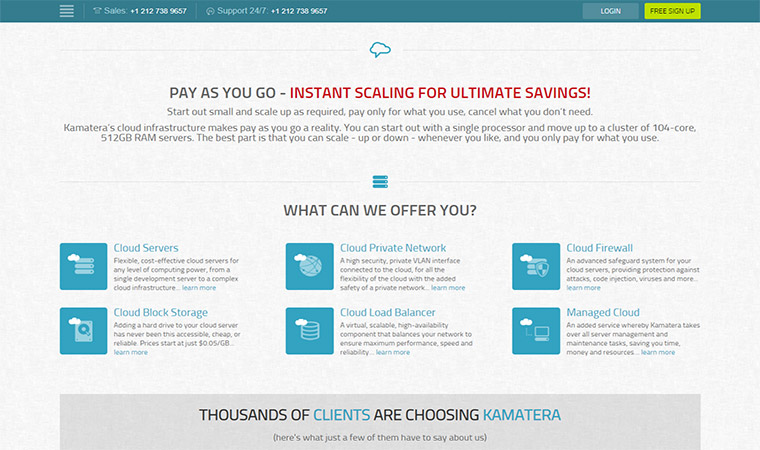 Kamatera Hosting Features