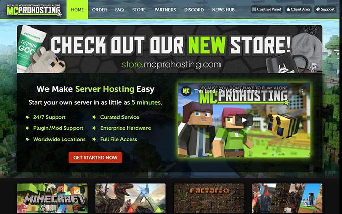 MCProHosting Homepage