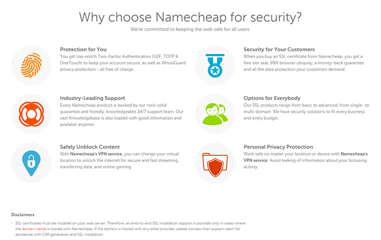 Namecheap Security Features