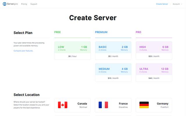 Server.pro Hosting Plans
