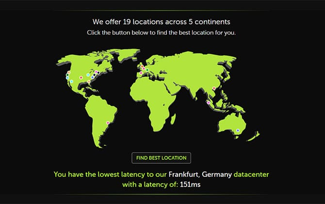 MCProHosting Location Coverage