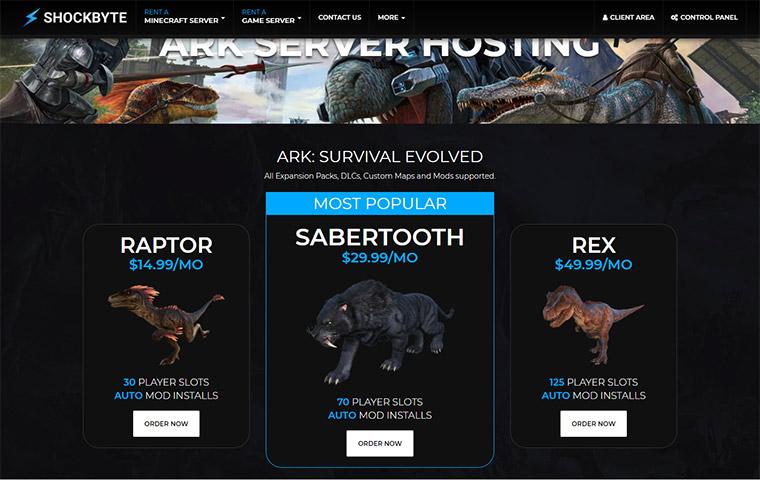 Shockbyte ARK Server Hosting Plans