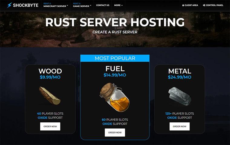 Shockbyte Rust Server Hosting Plans