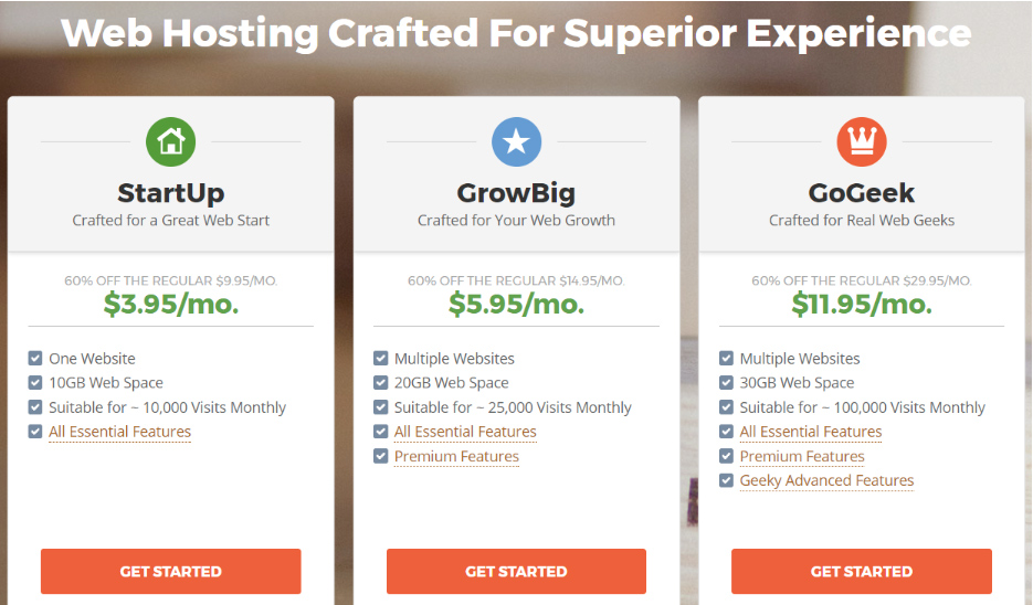 Siteground hosting specs